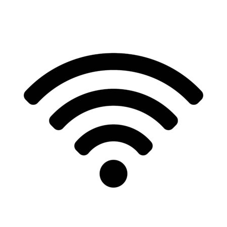 Wifi icon isolated on white background. Icon for interface design. Wireless wifi hotspot signal sign.