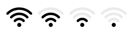 Wifi icon vector. Wifi signal icon, wireless symbol. Illustration