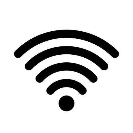 Wifi wireless internet icon for interface design. Wifi icon, symbol, icon isolated on white background.