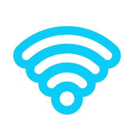 Vector blue wifi sticker sign, icon, symbol.