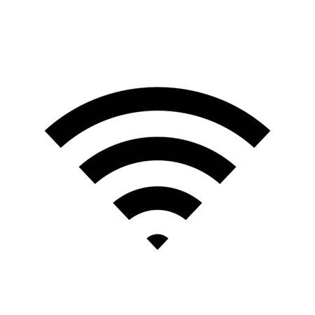Vector wifi signal icon, wireless symbol.