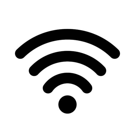 Flat wifi icon for interface design. WiFi or antenna icon isolated on white background. Symbol, icon, sign for different types of devices. Illustration