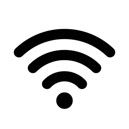 Wifi flat vector sign, icon, symbol isolated on white background.