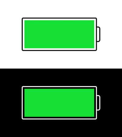 Vector battery icon. Flat battery indicator. Stock Illustratie