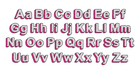 Cute uppercase and lowercase letters of the English alphabet in the style of lol doll surprise. Ready design font for decoration of kids cards, invitations, banners.