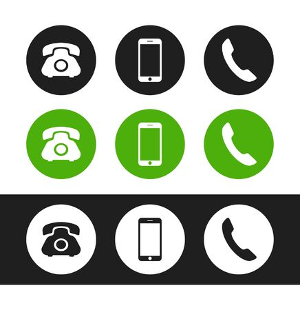Phone icon. Flat vector phone icon for concept design business card, flyer, ad, poster, banner, marketing, ui, interface, app, web and more.