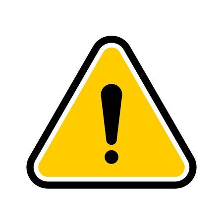 Symbole d'avertissement de danger triangulaire jaune. Icône de danger vectoriel et signe d'avertissement pour une utilisation sur le web, la typographie, l'application, la conception d'interface, sur la route et la construction.