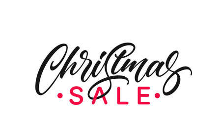 Christmas Sale text clipart for complement for your ad design.