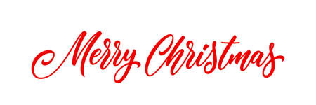 Merry Christmas handwritten lettering. Modern xmas holiday calligraphy. Christmas banner text. 矢量图像