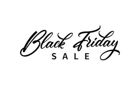Black Friday Sale text design. Modern hand lettering for use in ad, poster, banner design. 矢量图像