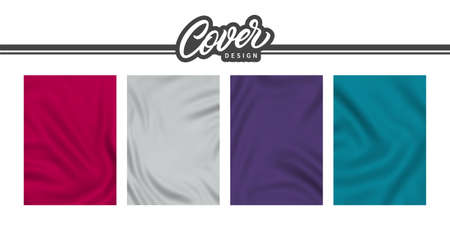 Backgrounds with cloth texture for cover design. Elegant background design for cover, banner and poster.