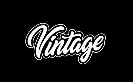 Word Vintage. Hand lettering design for prints on clothes. 矢量图像