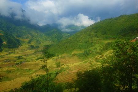 Landscape of Sappa in Northern Vietnam. Stockfoto