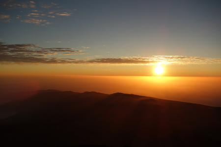 Colorful sunrise from a volcano Pico del Teide in Tenerife which is part of Canary Islands, Spain 写真素材