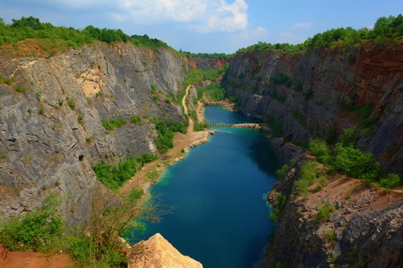 Old lime quarry, Big America (Lom Velka Amerika) near Prague, Czech Republic, Central Europe