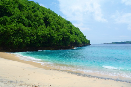 Pandan beach at Nusa Penida island near to Bali, Indonesia, South East Asia