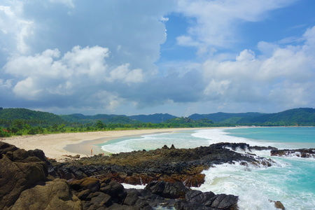 Lancing Beach located in Central Lombok island, near to Bali, Indonesia, South-East Asia