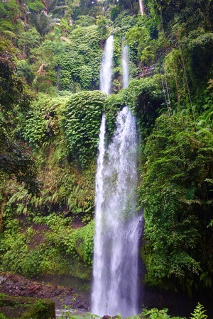 Sendang Gila Waterfall in North part of Lombok island, Indonesia, South-East Asia