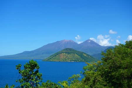 Volcanoes located in Flores island, Nusa Tenggara Timur, Indonesia, South-East Asia