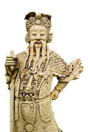 Ascetic statue on white background photo