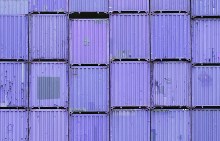 cargo container: Stack of container