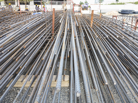 reinforcing bar: Column Stock Photo