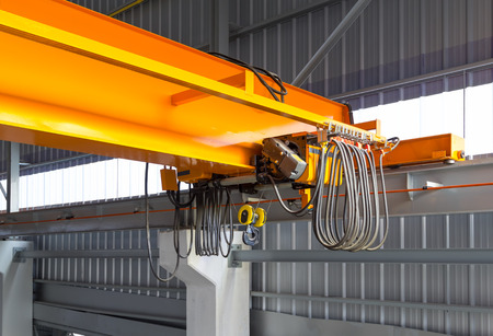 Factory overhead crane installation on rail, can movement to every where in factory area  photo