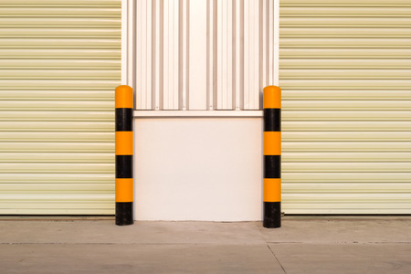 mountings: Guard post column for prevent car or truck hit edge of door.