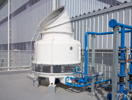 cooling tower: Cooling tower outside factory