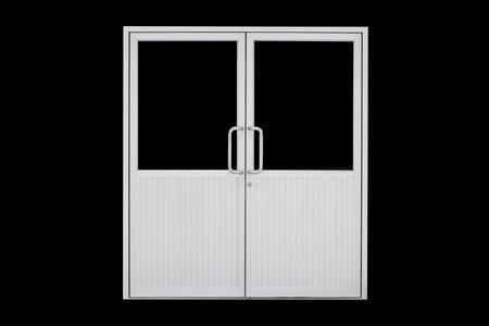 nickle: Aluminium door with isolated background