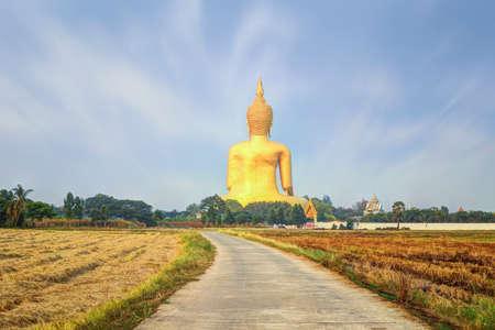big buddha: Big buddha in Wat Muang, Ang Thong, Thailand.