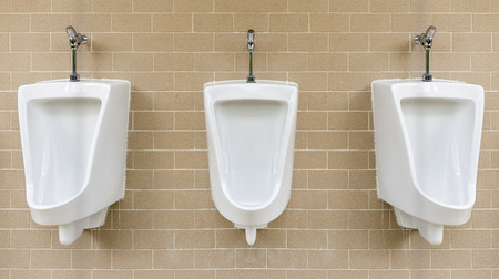 White urinals install on wall  photo