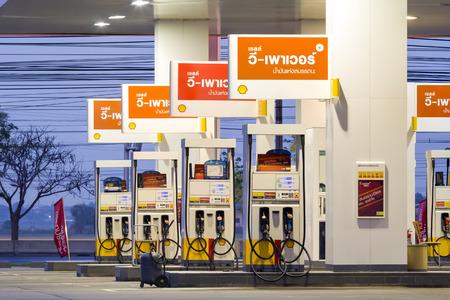 Ayutthaya, APRIL 15  Shell gas station on April 15, 2014 in Ayutthaya, Thailand  Ready public service