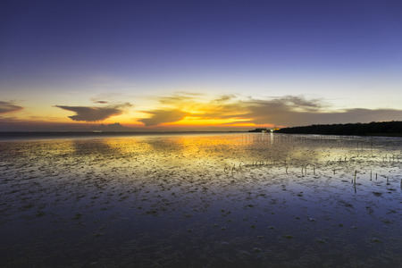samut prakan: Seascape at bangpu, famous attraction of Samut Prakan, Thailand. Stock Photo