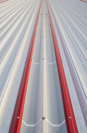 polycarbonate: Skylight sheet used for light transmission into the building. Stock Photo