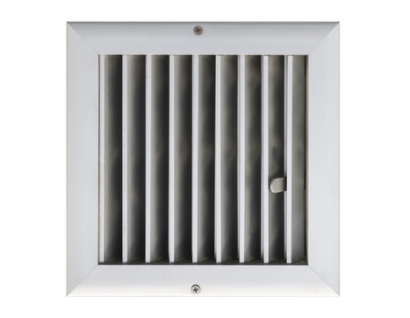 Aluminum grill in isolated . photo