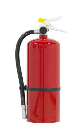 extinguish: Fire extinguisher isolated on white background