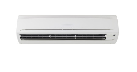 Air conditioner machine in isolate background  Stock Photo