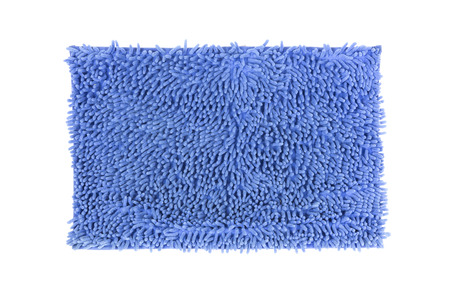 Blue doormat isolated on white  photo