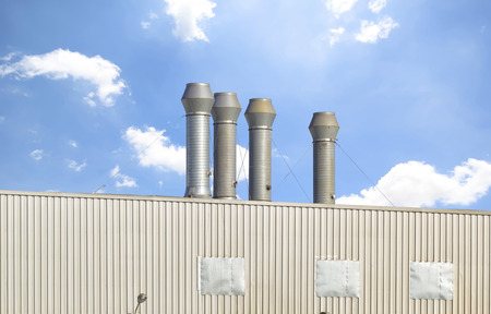venting: Ventilation system of factory  Stock Photo