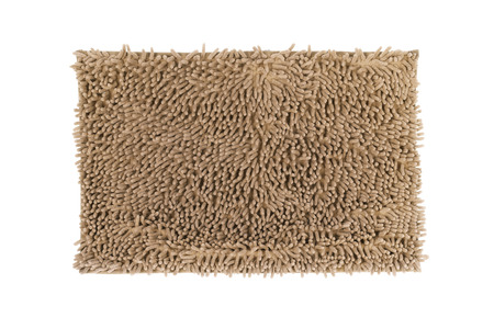 Brown doormat isolated on white background  photo