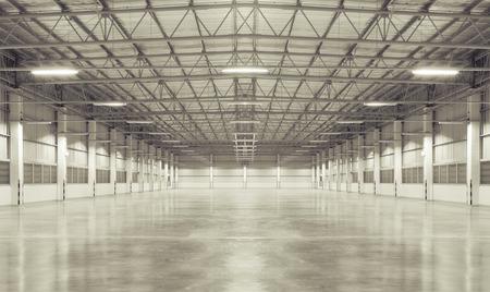 La fabbrica di sfondo con pavimento in cemento, scena notturna. Archivio Fotografico - 30113582