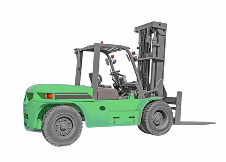 Forklift truck isolated on white background  photo