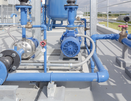 chiller: Water pump and steel pipe