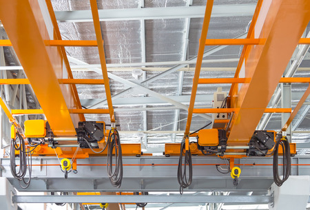 overhead crane: Factory overhead crane installation on rail,  can movement to every where in factory area.