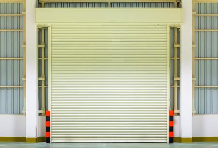 shutter door: Shutter door, night scene. Stock Photo
