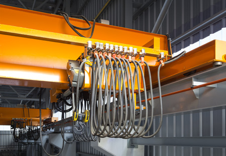 overhead crane: Factory overhead crane installation on rail