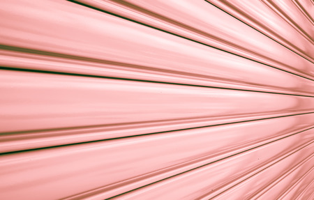Perspective of rolling door or shutter door pattern,  (new and clean surface). photo