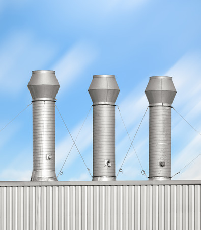 venting: Ventilation system of factory.