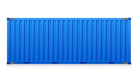 Ilustración de carga de contenedores aislados en fondo blanco. Ilustración de vector